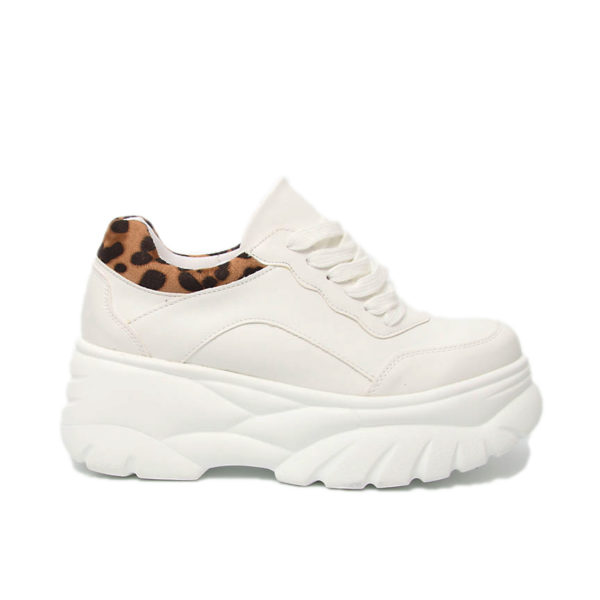 Sneakers Λευκά leopard