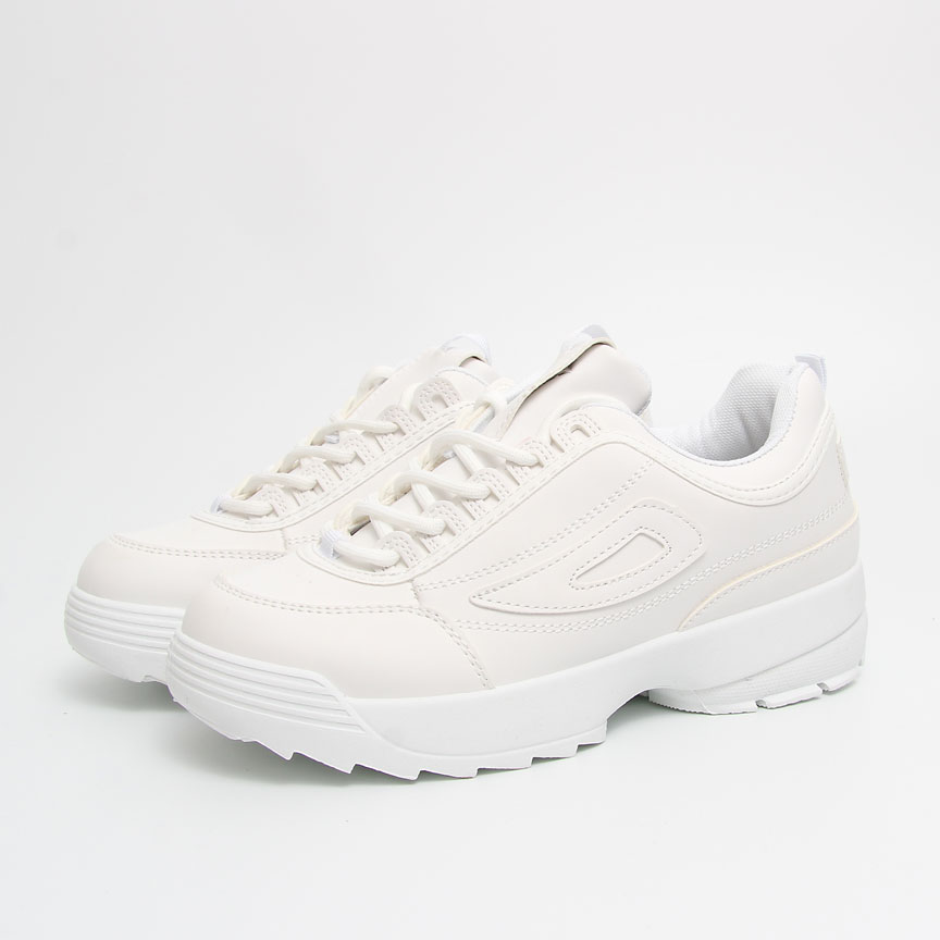 Γυναικεία Sneakers total white