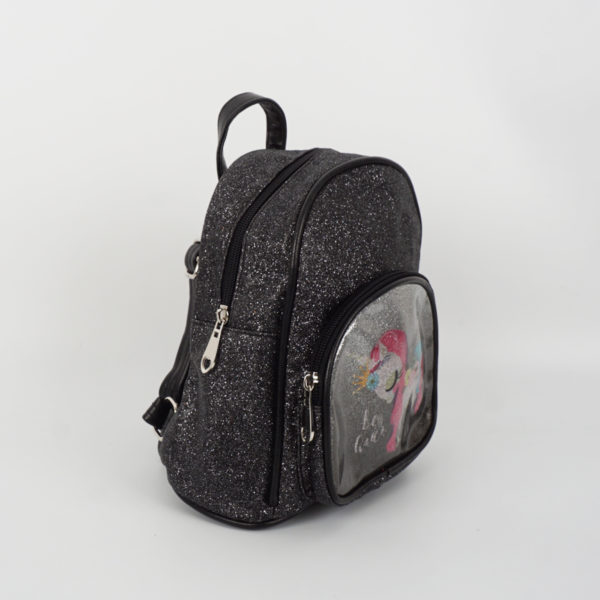 Παιδική backpack μαύρη glitter little pony